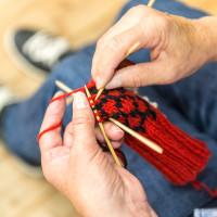 Knitting Stricken Wollstadel Bramberg