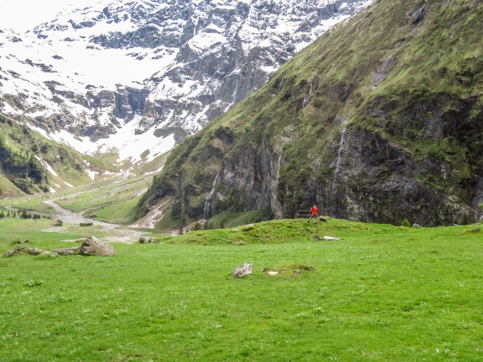 Achim in Action in Mitten wunderschöner Alpen