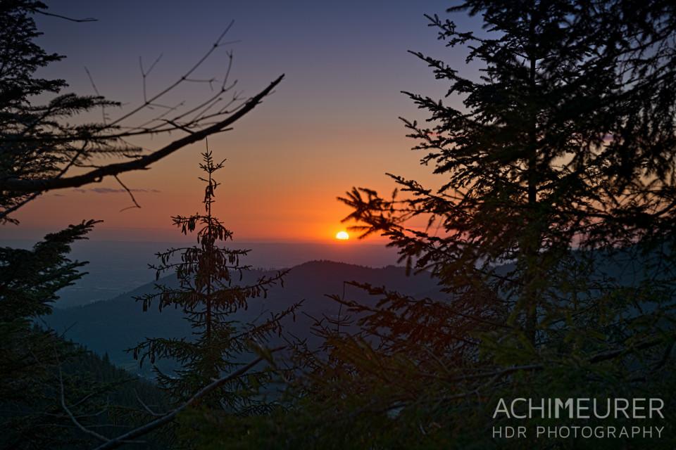 Sonnenuntergang auf der Schwarzwaldhochstraße