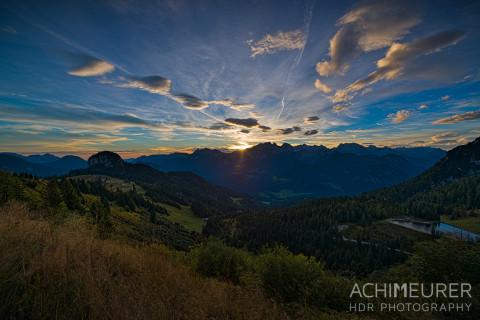 Sonnenaufgang auf der Loferer Alm