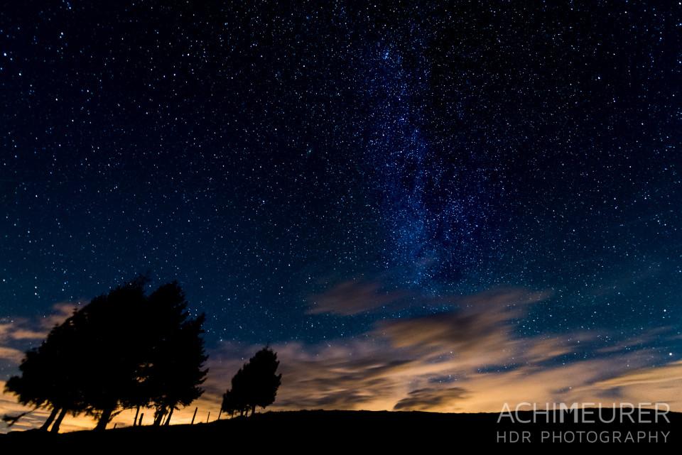 Sternenhimmel im Saalachtal auf der Loferer Alm Salzburgerland