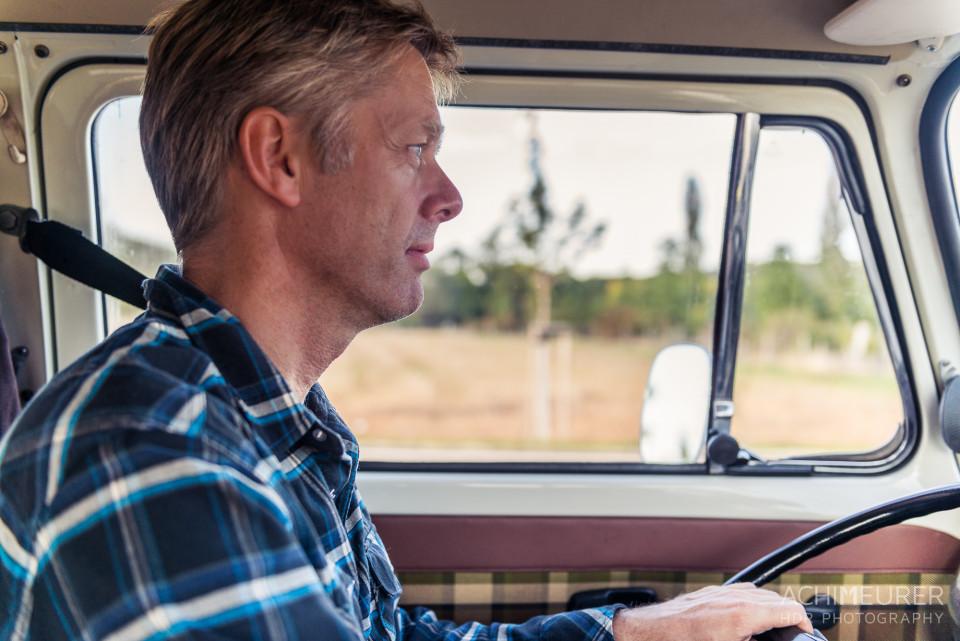 Peter während der Fahrt