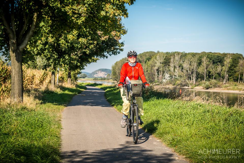 Mit dem Fahrrad entlang der Elbe nach Meißen