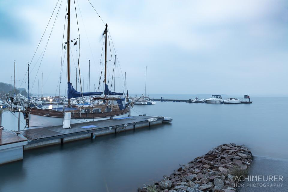 Morgenstimmung bei Regen im Lausitzer Seenland