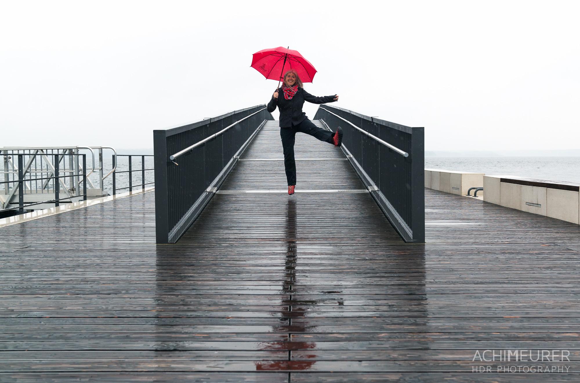 Dancing in the rain - Spaziergang im Regen im Lausitzer Seenland