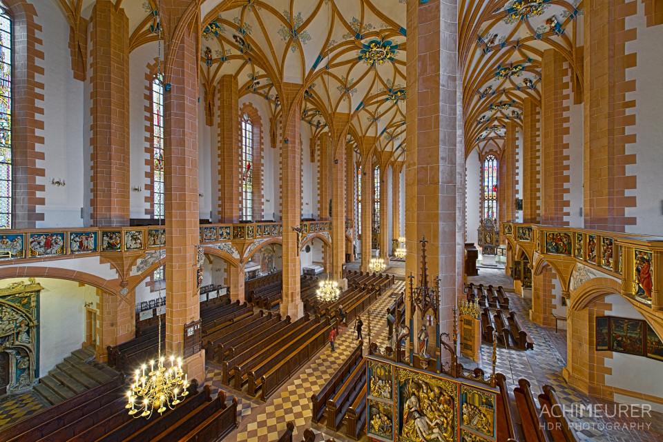 Größte Hallenkirche Sachsens in Annaberg-Buchholz im Erzgebirge