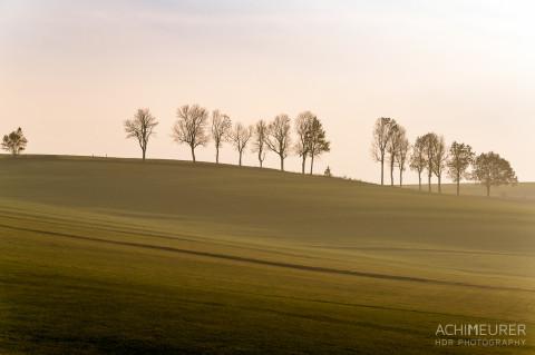 Sonnenuntergang im Herbst im Erzgebirge