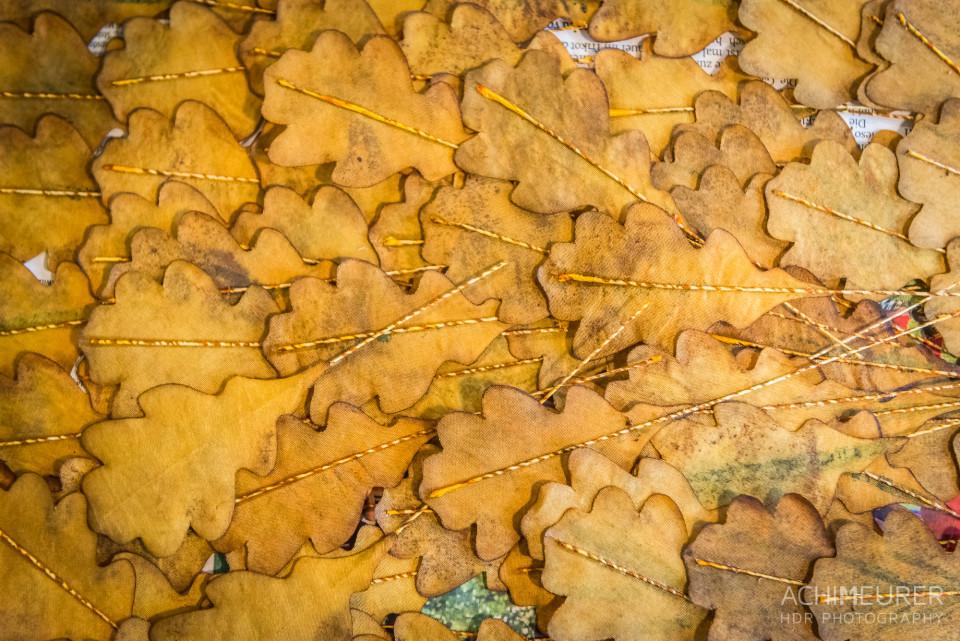 Herbstblätter aus der Seidenblumenmanufaktur Kunstblume in Sebnitz