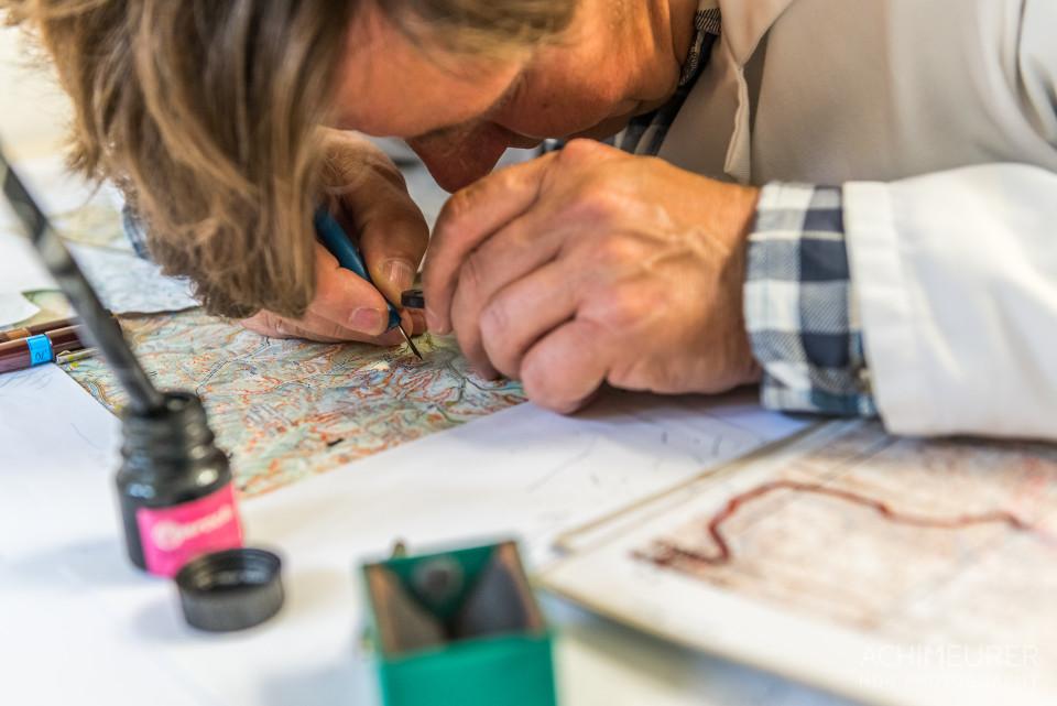 Handgezeichnete Wanderkarten von Dr. Böhm