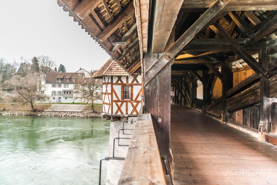 Die alte Holzbrücke von Bad Säckingen