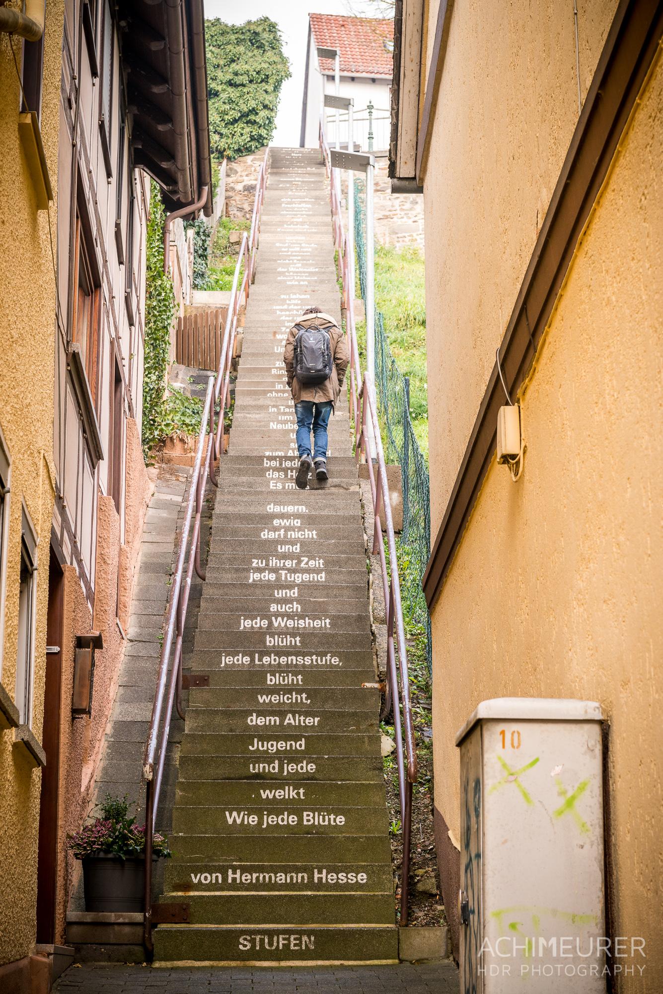 Die Hesse-Treppe in Biedenkopf