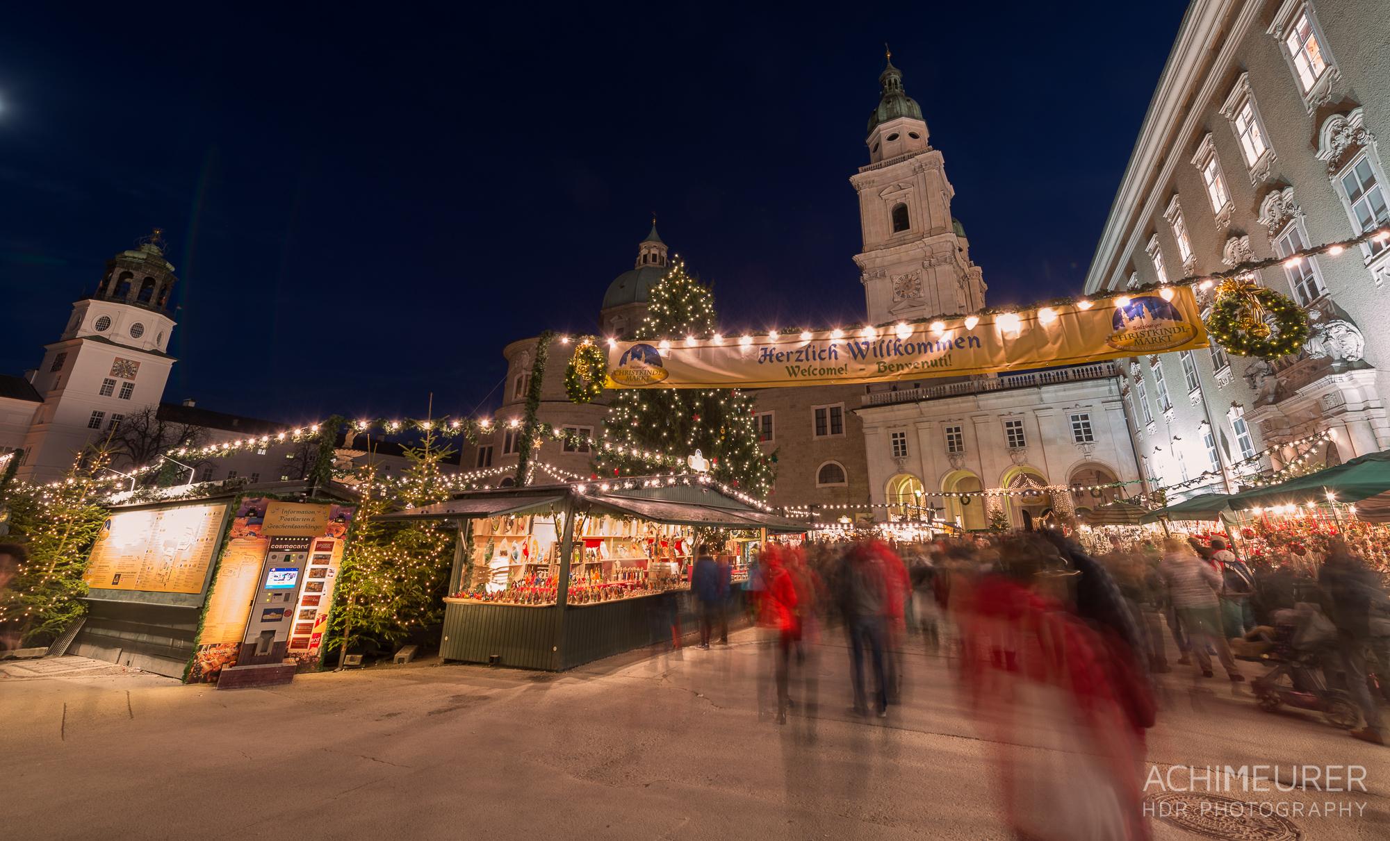 Weihnachtsmarkt Salzburg Residenzplatz