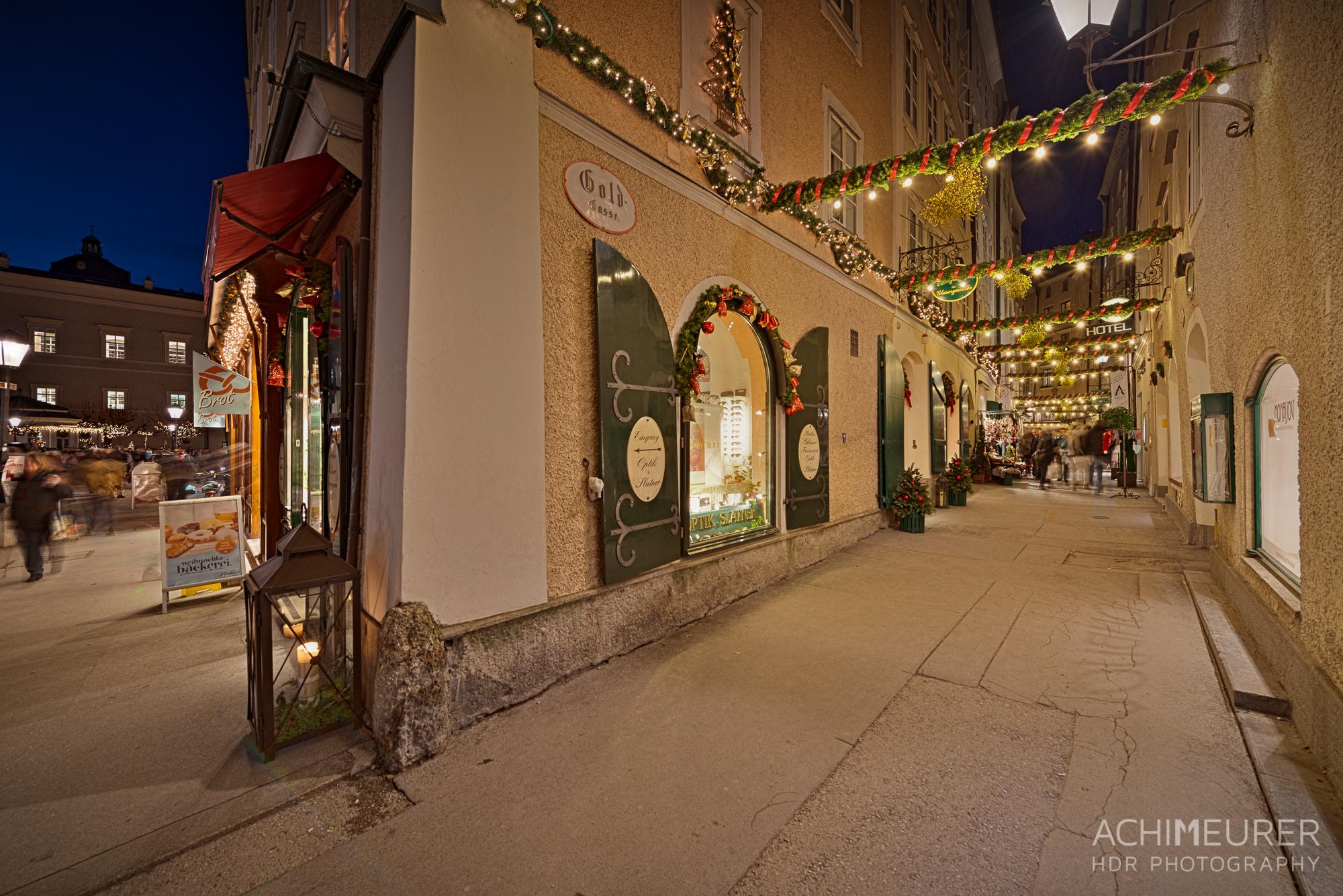 Weihnachtsmarkt Salzburg Goldgasse