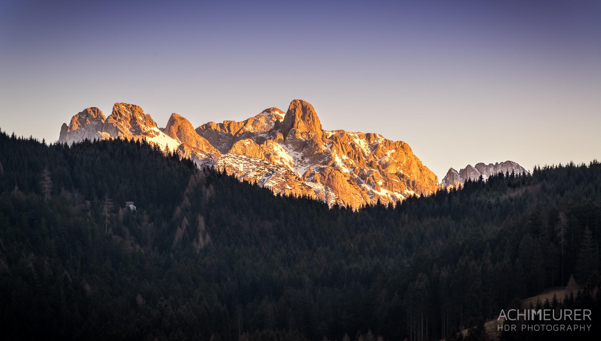 Sonnenuntergang Tennengebirge