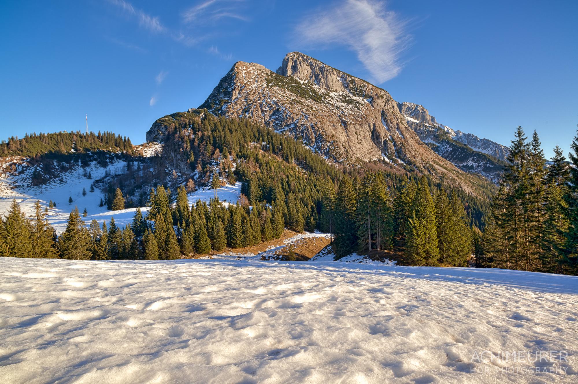 Ausblick übers Tennengebirge von der Bergstation der Donnerkogelbahn