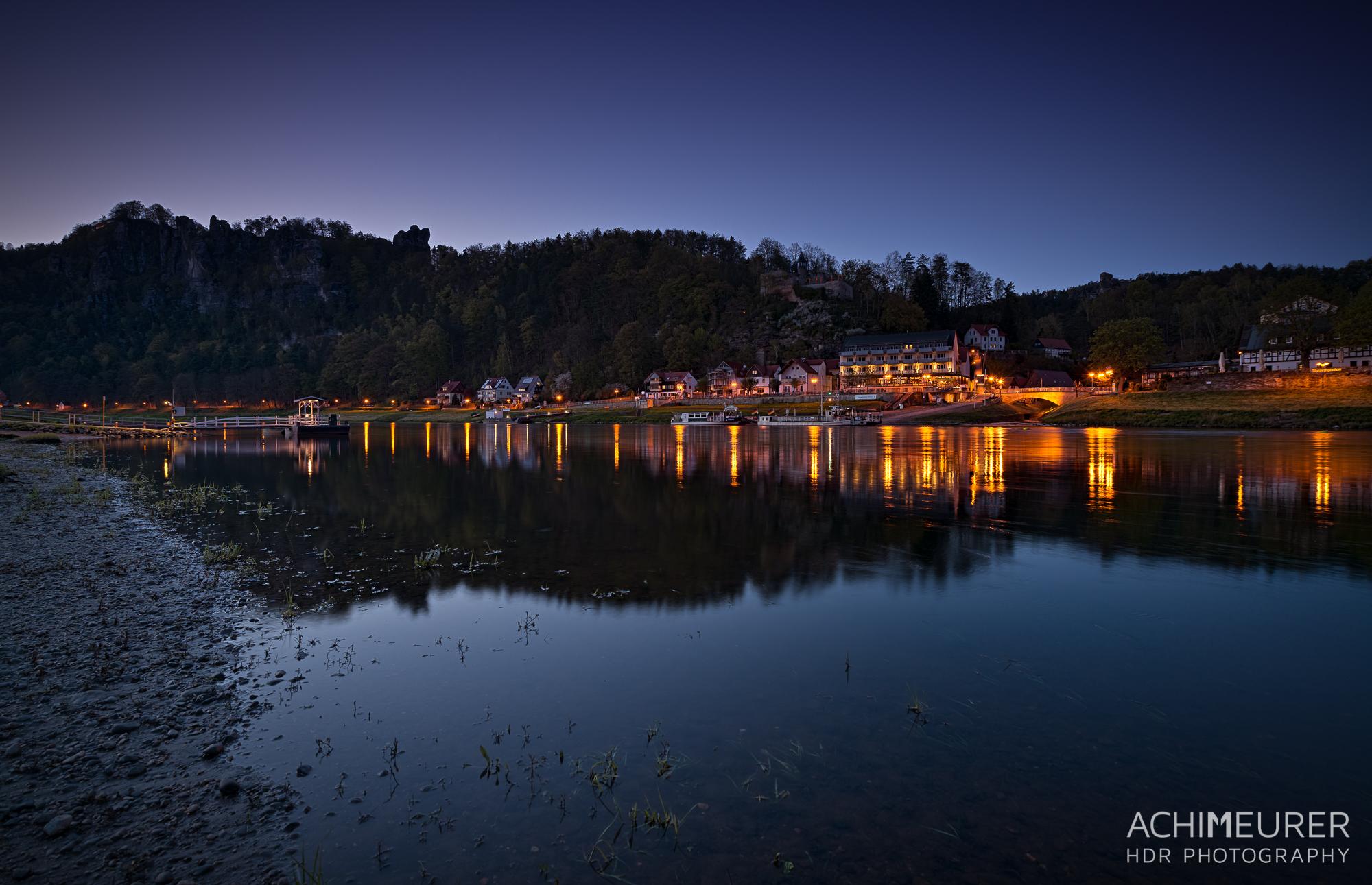Saechsische-Schweiz-Rathen-Blaue-Stunde_9132_31_30_29_28_HDR
