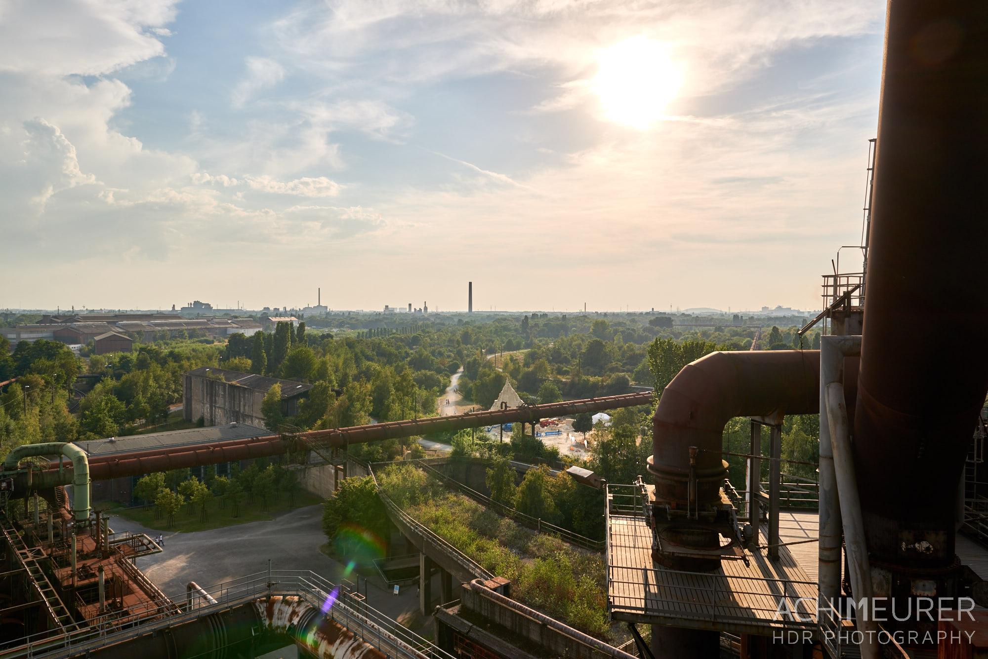 Landschaftspark Nord in Duisburg im Ruhrgebiet