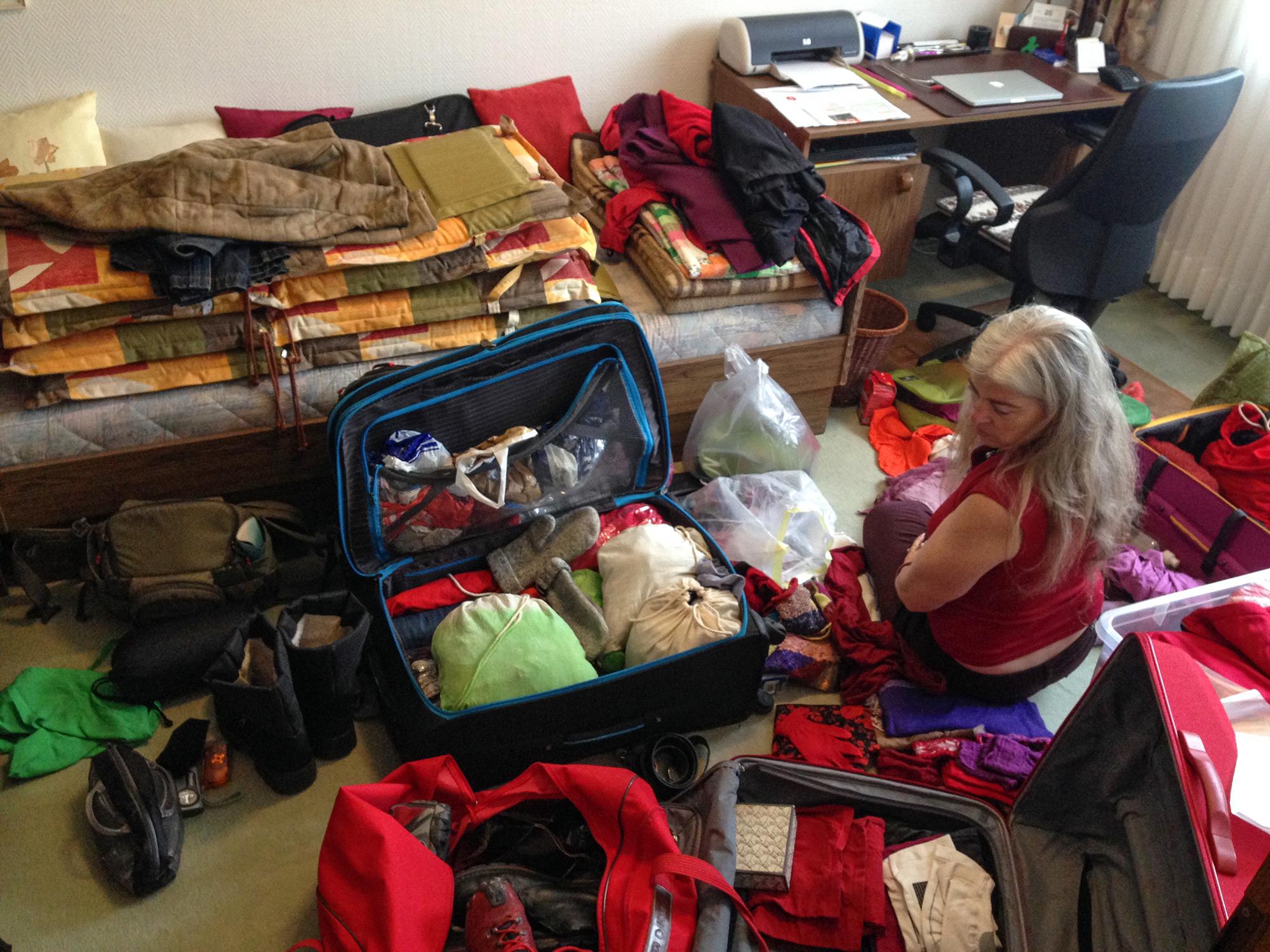 Koffer packen für den Winter