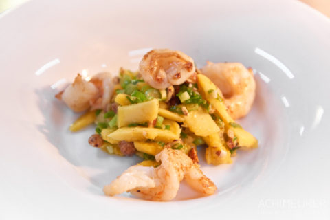 Schnelle Küche: Mango-Nuss-Garnelen-Salat
