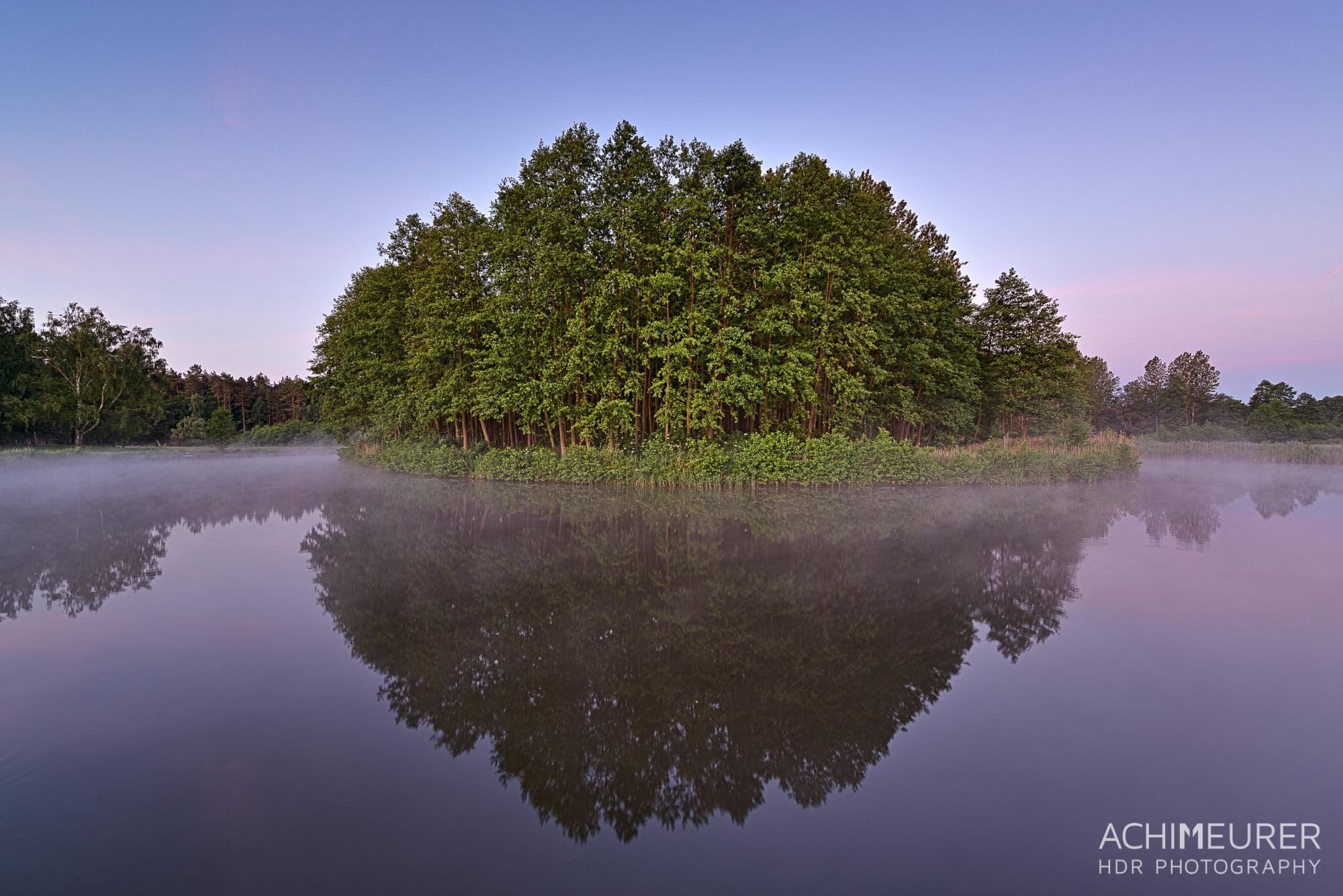 Morgennebel auf der Havel by Array.