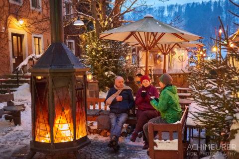 Das Biodorf Schmilka im Winter