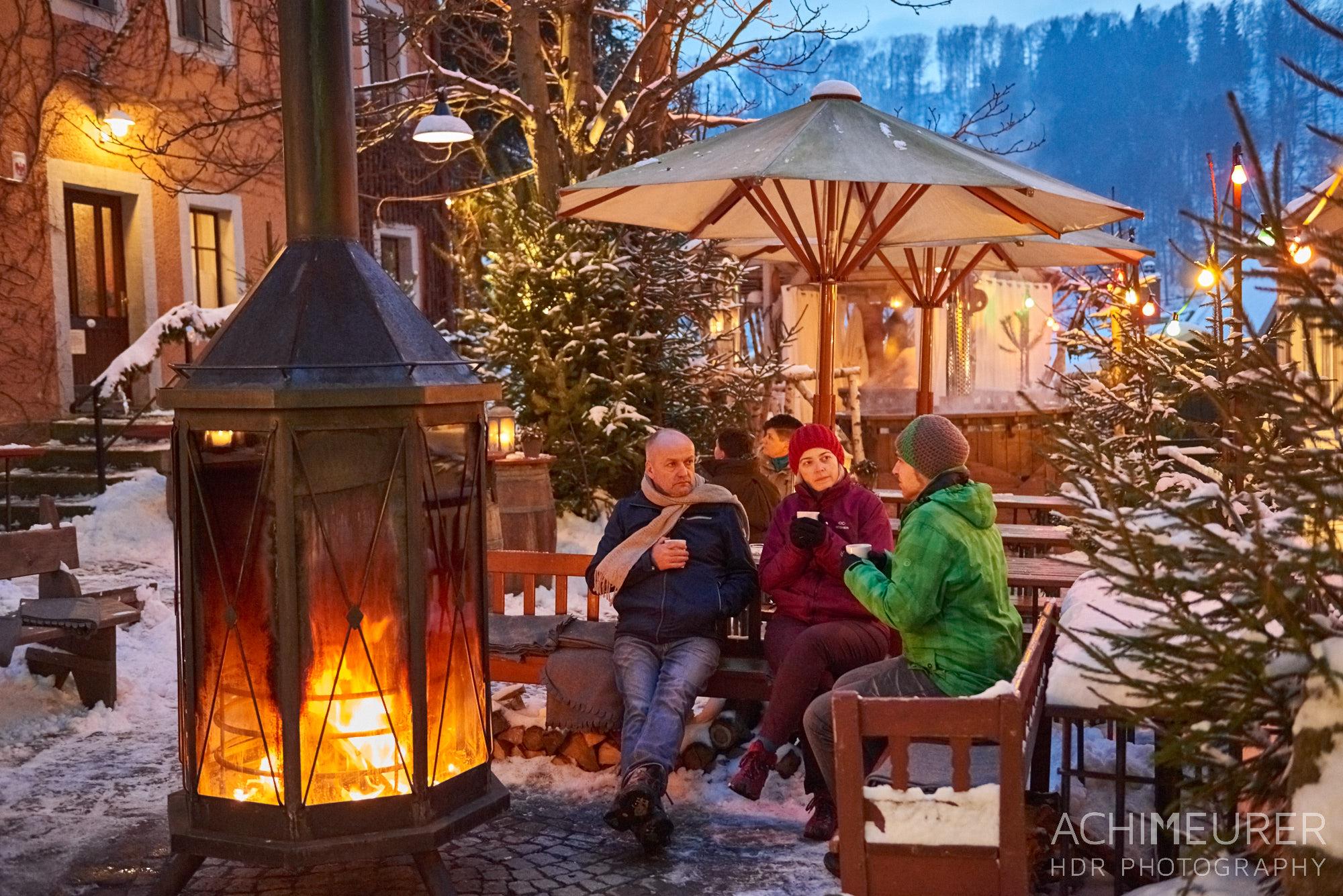Das Winterdorf Schmilka in der Sächsichen Schweiz by AchimMeurer.com                     .