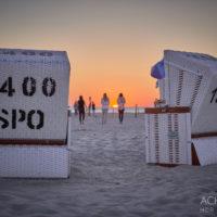 Sonnenuntergang - Sankt Peter-Ording an der Nordsee by AchimMeurer.com                     .