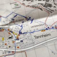 Streckenplanung für das Startfoto beim Rad-Marathon 2017