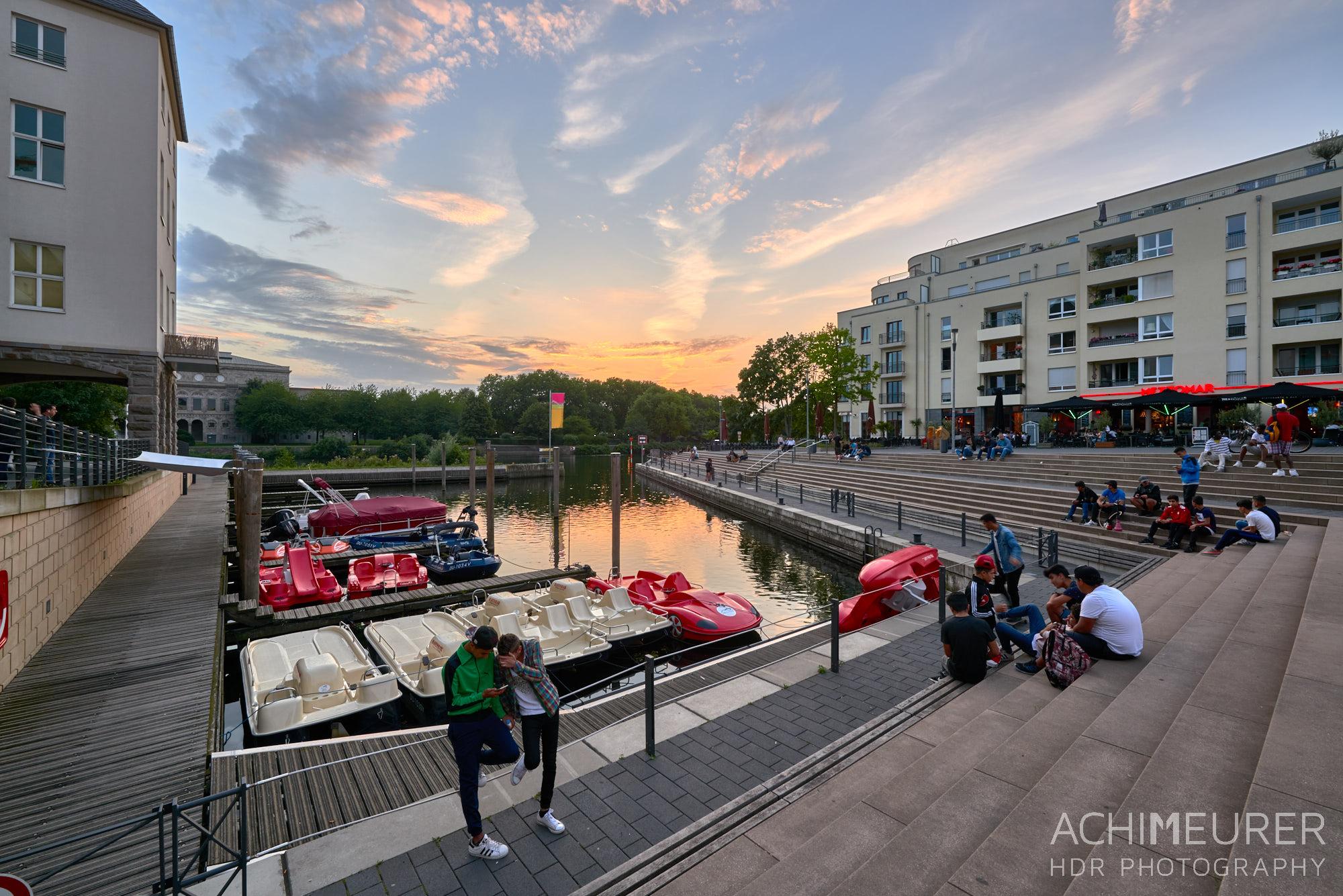 Sonnenuntergang - Impressionen aus Mülheim a.d. Ruhr, Ruhrgebiet , NRW by AchimMeurer.com .