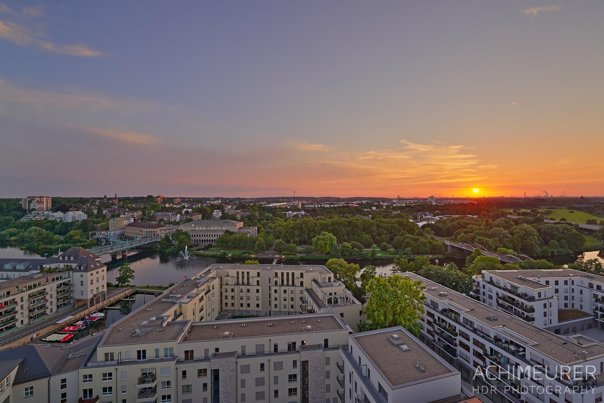 Sonnenuntergang - Impressionen aus Mülheim a.d. Ruhr, Ruhrgebiet , NRW by Array.