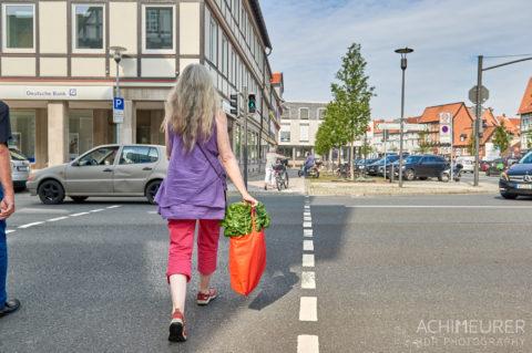 Mangold ernten im Gemüsebeet in Wolfenbüttel by AchimMeurer.com .
