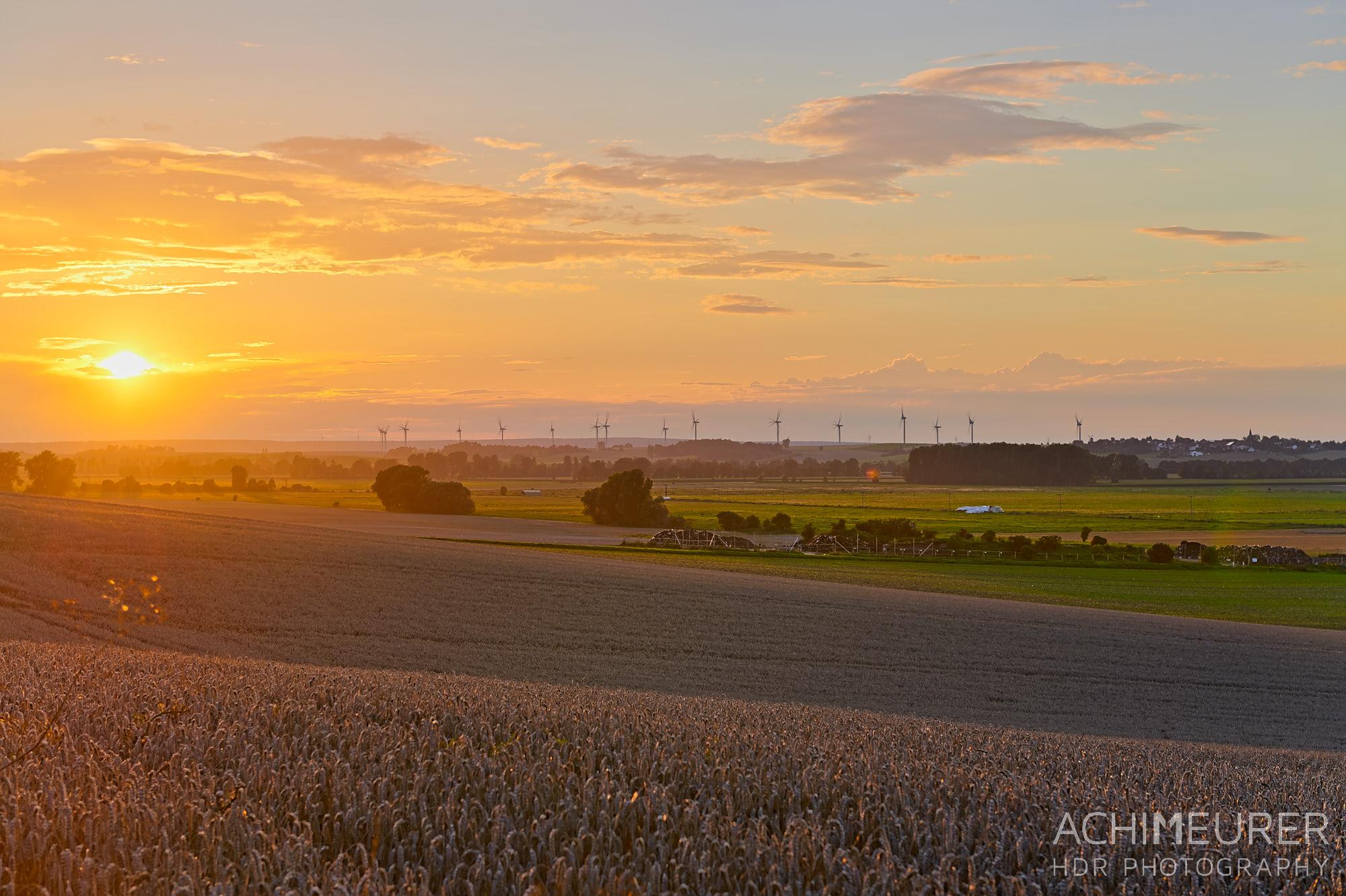 Sonnenuntergang - Nördliches Harzvorland by Array.