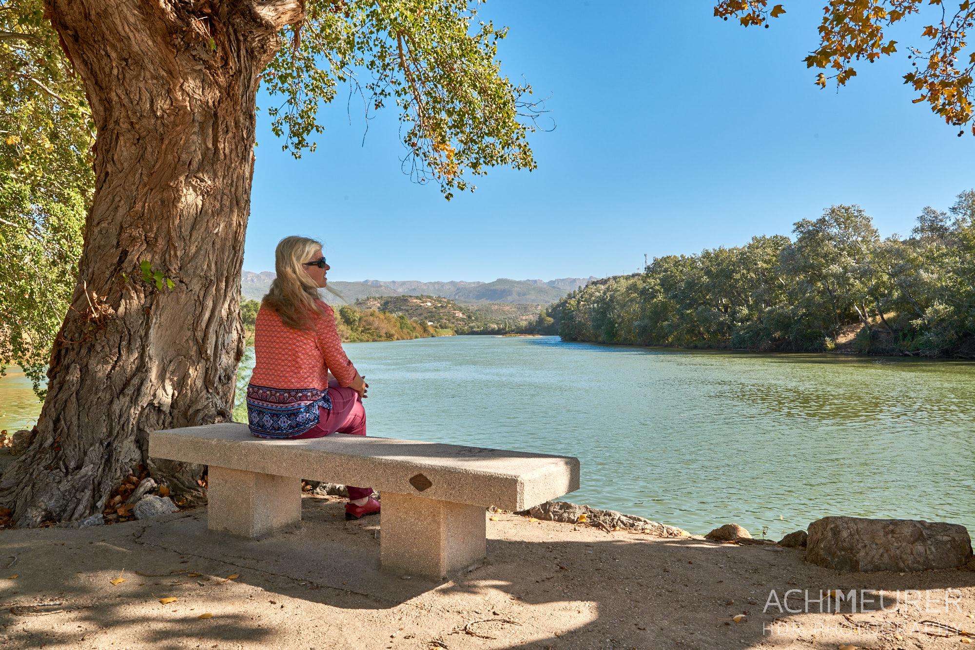 Am Flussufer des Ebros in Xerta, Tortosa, Katalonien, Spanien by AchimMeurer.com .