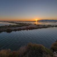 Sonnenuntergang im Ebro-Delta, Katalonien, Spanien by Array.