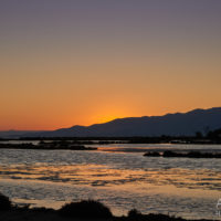 Sonnenuntergang im Ebro-Delta, Katalonien, Spanien by AchimMeurer.com                     .