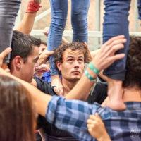 Das Training der Castellers de Vilafrance, Menschentürme, Katalonien, Spanien by AchimMeurer.com                     .