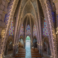 Die Kathedrale von Montferri, Katalonien, Spanien by Array.