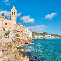 Ortsansichten von Sitges in Katalonien, Spanien by AchimMeurer.com .