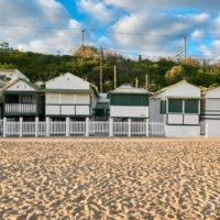 Strandhäuser in Garraf, nördlich von Sitges, Katalonien, Spanien by AchimMeurer.com                     .