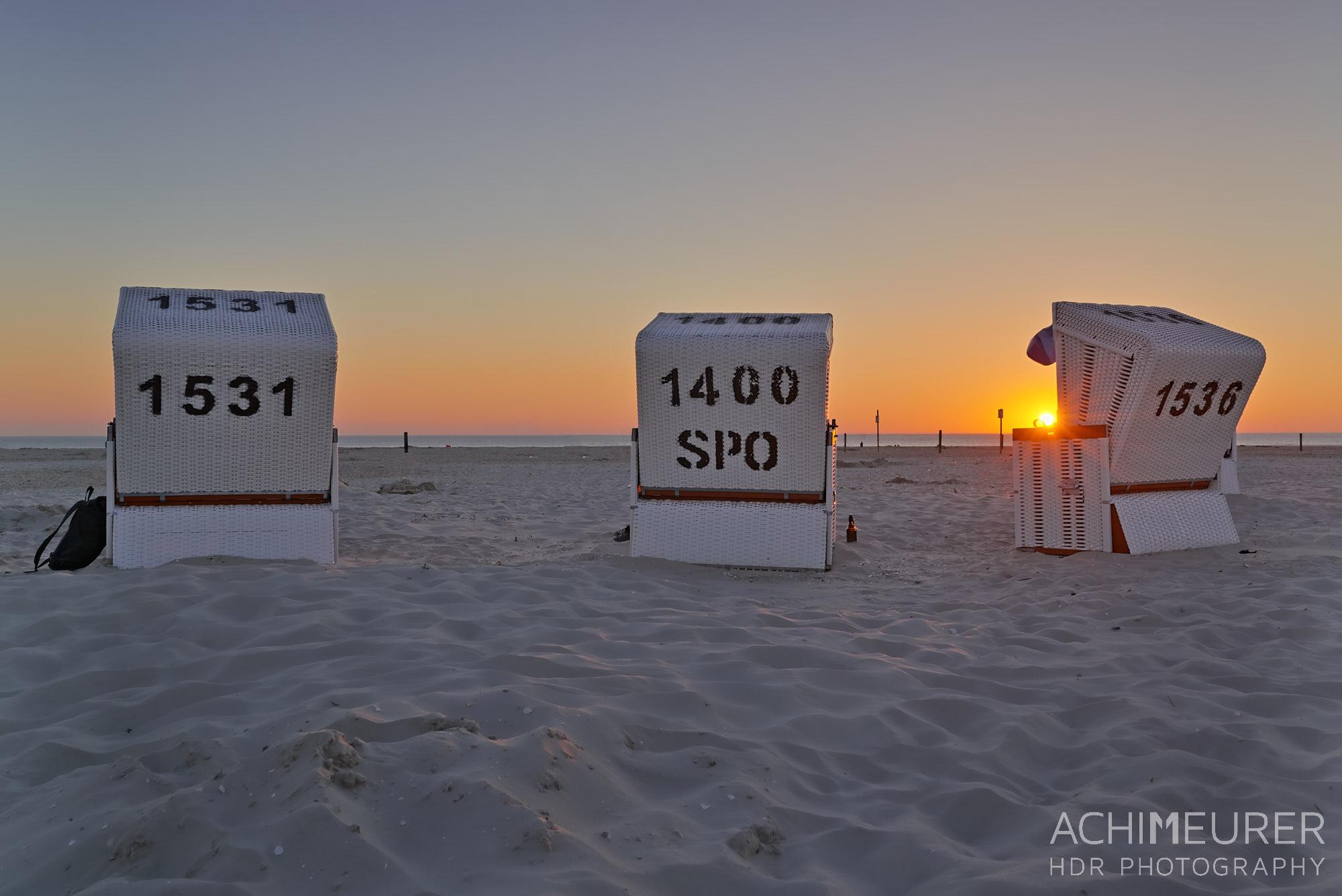 Sonnenuntergang - Sankt Peter-Ording an der Nordsee by Achim Meurer.