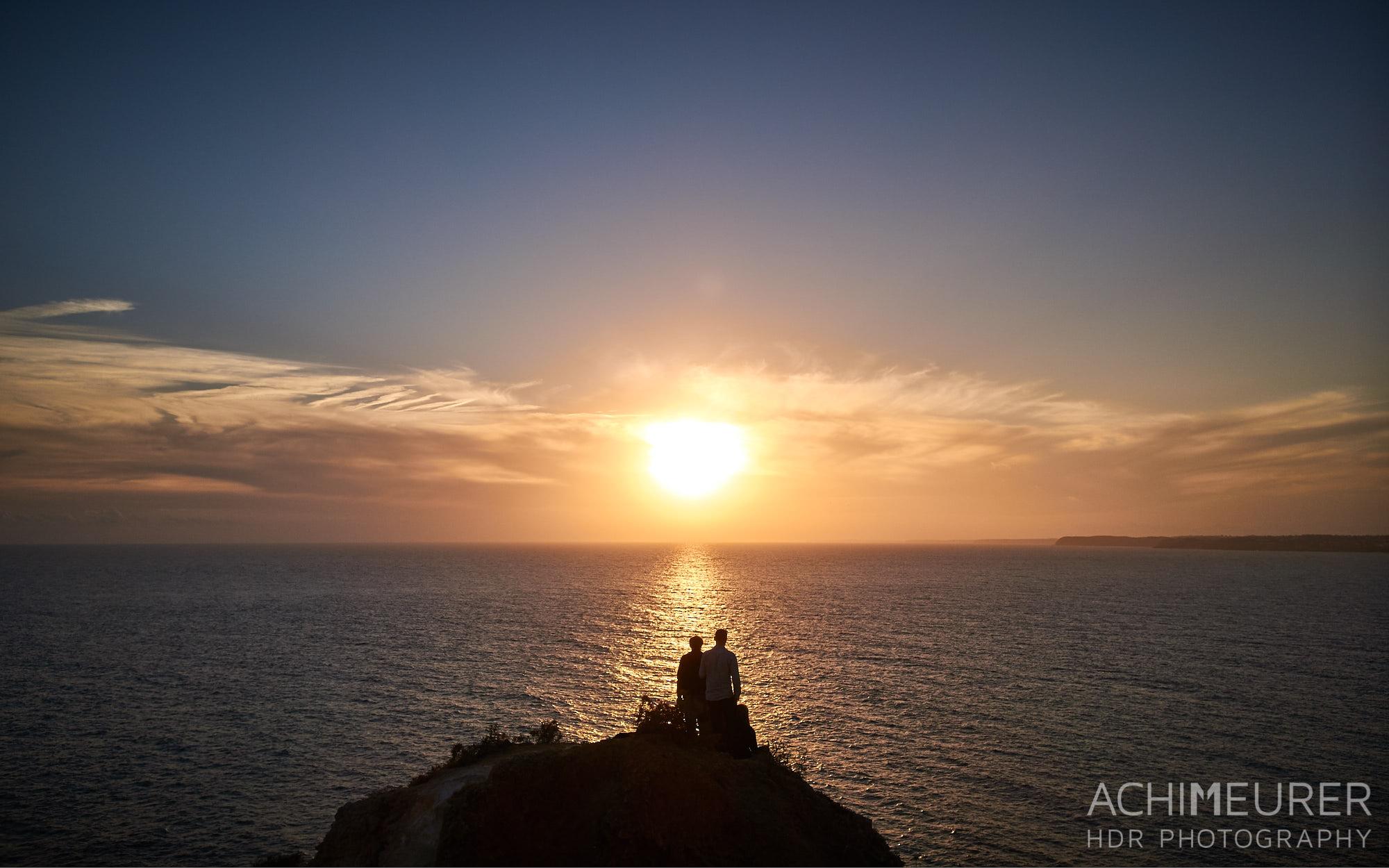 Sonnenuntergang an der Küste von Lagos, Algarve, Portugal by Achim Meurer.