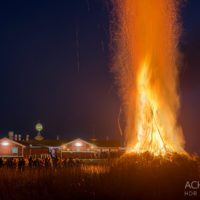 Traditionelles Biikebrennen am Strand von Sankt Peter-Ording by AchimMeurer.com.