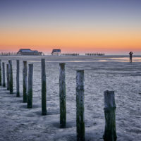 Sonnenuntergang am Strand von Sankt Peter-Ording im Winter by AchimMeurer.com.