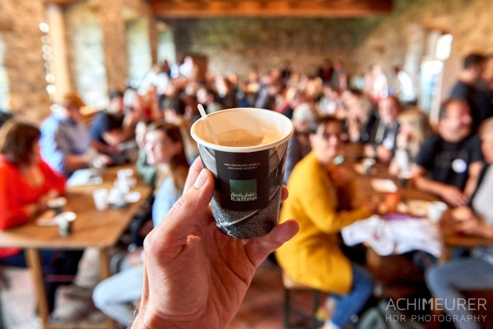 Kaffee auf dem Castlecamp