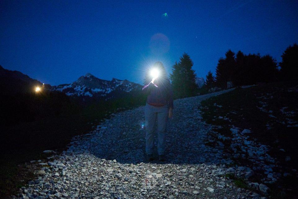 MakingOf Stirnlampenlauf mit Peter Schlickenrieder, Traildays 2019, Tannheimer Tal, Tirol, Österreich by ACHIM MEURER.