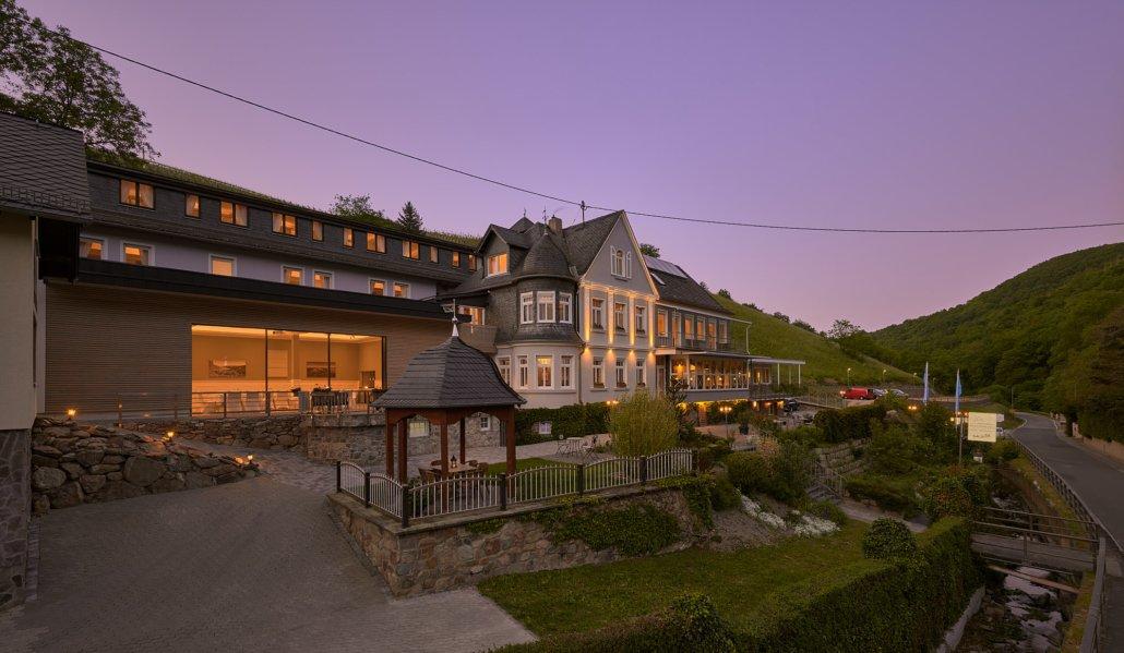 Hotel Weinbergschlösschen am Abend